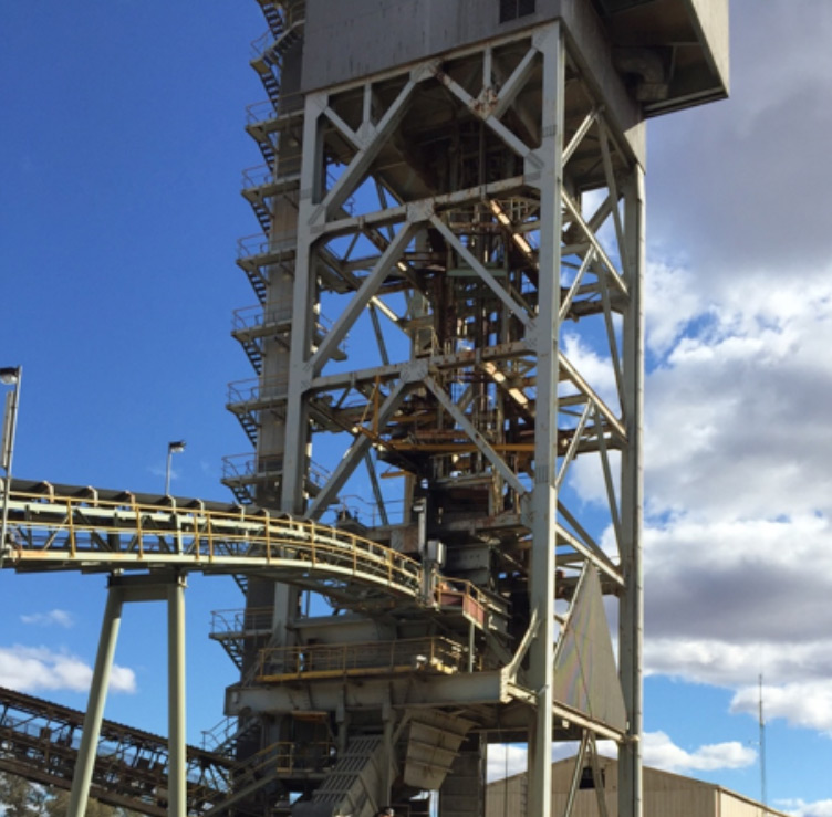 Conveyor and Tower on a Mining Site
